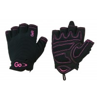 GoFit GF-WCT-LG Women's Cross Training Glove (Black/Pink/Large)