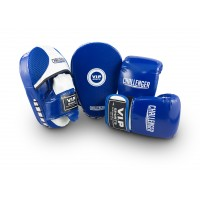 VIPCOMBOMBW Mitt & Pad Combo (Blue/White - Medium)