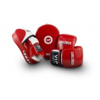 VIPCOMBOMRW Mitt & Pad Combo (Red/White - Medium)