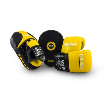 VIPCOMBOMYB Mitt & Pad Combo (Yellow/Black - Medium)